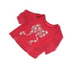 Růžové tričko s mašlí