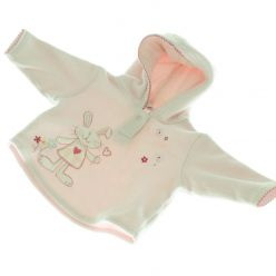 Růžová fleecová mikina NEXT