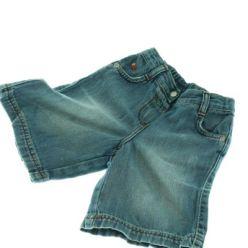 Modré džínové kraťasy