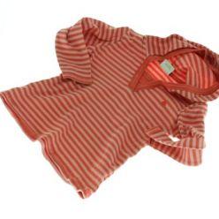 Růžové pruhované tričko s kapucí NEXT