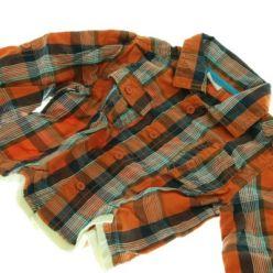 Košile oranžová kostkovaná
