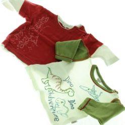 2 x triko červené NEXT a bílo zelené Dany