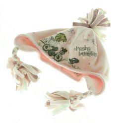 Růžová fleecová čepice s výšivkou NEXT