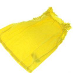 Žluté tričko s ozdobným lemem