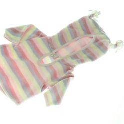 Růžová pruhovaná fleecová mikina NEXT