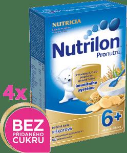 4x NUTRILON ProNutra piškotová (225g) - mléčná kaše