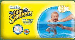 HUGGIES® Little Swimmers veľ.2-3 (3-8kg) 12ks - jednorázové plienky do vody
