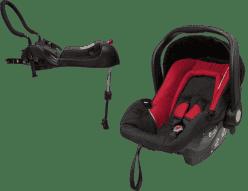 AXKID Babyfix autosedačka 0 - 13 kg Red + Babyfix základna (ISOFIX/Pás) Black