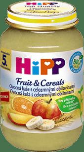 HIPP BIO Ovocná kaša s celozrnnými obilninami (190 g) - ovocný príkrm