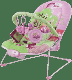 SUN BABY Detské ležadlo - Pink heart