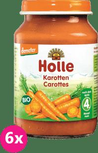 6x HOLLE Bio Mrkev - zeleninový příkrm, 190g
