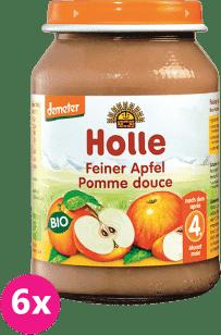 6x HOLLE Bio Jemné jablko - ovocný příkrm, 190g