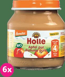 6x HOLLE Bio 100% jablíčko - ovocný příkrm, 125g