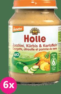 6x HOLLE Bio Cuketa a tekvica so zemiakmi - zeleninový príkrm, 190g