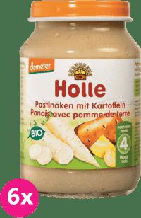 6x HOLLE Bio paštrnák so zemiakmi - zeleninový príkrm, 190g