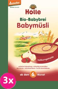 3x HOLLE Bio Babymüsli - Kaša, 250g