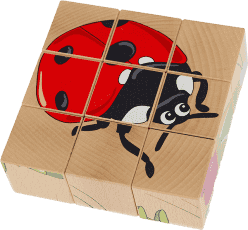 PILCH Skládačka – louka, 9 kostek