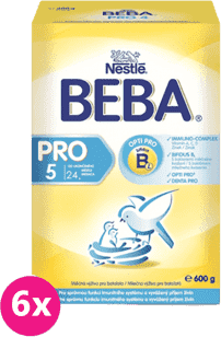 6x NESTLÉ BEBA PRO 5 (600g) - dojčenské mlieko