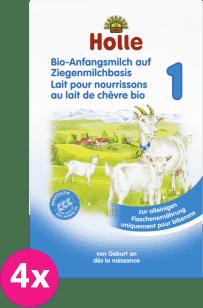 4x HOLLE Bio kojenecká mléčná výživa na bázi kozího mléka 1, 400g
