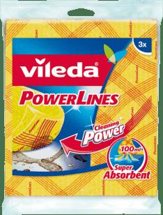 Vileda Powerlines chłonna gąbkowa pucerka (3 szt.)