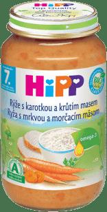 HIPP Karotka s ryžou a morčacím mäsom 220g