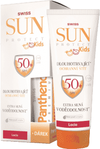 SUNPROTECT Swiss KIDS F50+ loc 250ml+Pant.50ml Zdarma