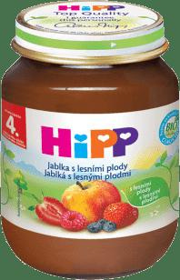 HIPP ovocný príkrm Jablká s lesnými plodmi 125g