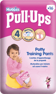 HUGGIES® Pull-Ups rozmiar 4 (8-15kg) pieluchomajtki treningowe dla dziewczynek