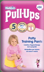 HUGGIES® PULL-UPS rozmiar 5 (11-18kg) pieluchomajtki treningowe dla dziewczynek