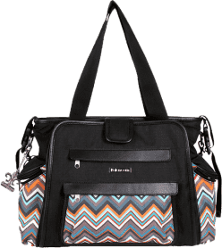 KALENCOM Přebalovací taška Nola Black/Safari ZigZag