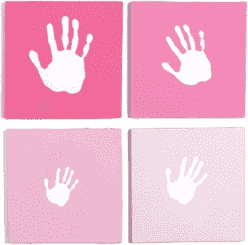 PEARHEAD Rámeček na otisknaše rodina růžový