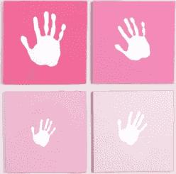 PEARHEAD Rámček na odtlačok naša rodina ružový