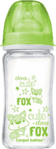 CANPOL Babies Fľaša EasyStart PURE glass 240 ml zelená