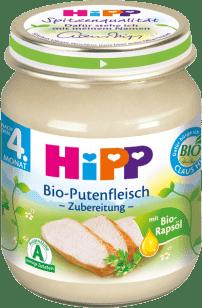 HIPP BIO krůtí maso (125 g) - masový příkrm