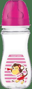 CANPOL Fľaša EasyStart Piráti 300ml 0% BPA - opice