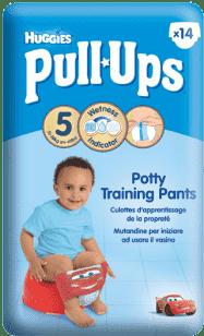 HUGGIES® PULL-UPS vel.5 (11-18kg) chlapecké tréninkové kalhotky