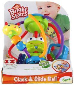 BRIGHT STARTS Hračka Clack & Slide Activity Ball™ (6m+)