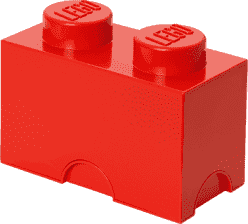 LEGO® Box do przechowywania rozmiar 2 czerwony