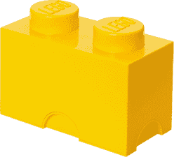 LEGO® Box do przechowywania rozmiar 2 żółty