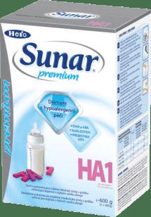 SUNAR Premium 1 HA (600g) - počiatočná dojčenské mlieko
