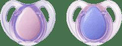 TOMMEE TIPPEE Smoczek uspokajający Basic, lateksowy, 0-6 m (2 szt.). Dziewczynka