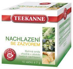 TEEKANNE bylinný čaj - prechladnutia so zázvorom, 10 sáčkov
