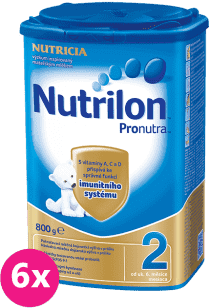 6x NUTRILON 2 ProNutra (800g) - kojenecké mléko