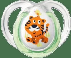 TOMMEE TIPPEE Smoczek sylikonowy Fun, 2 szt, 0-6m. Z motywem tygrysa