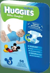 HUGGIES® Ultra Comfort JUMBO BOY Disney, vel. 3, 56 ks (5 - 9 kg) - jednorázové plienky