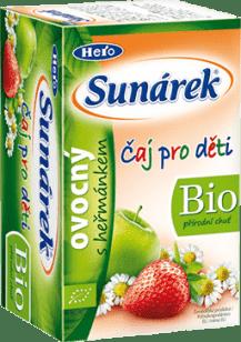SUNÁREK BIO dětský čaj Ovocný s heřmánkem 20x1,5g