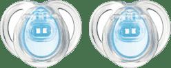 TOMMEE TIPPEE Cumlík CTN silikón Any Time 2ks 0-6m-modré