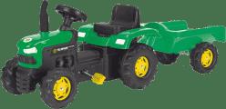 BUDDY TOYS Šliapací traktor s vozíkom