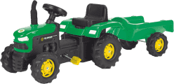 BUDDY TOYS Traktor z pedałami z przyczepą