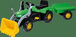 BUDDY TOYS Šliapací traktor s vozíkom a lyžicou